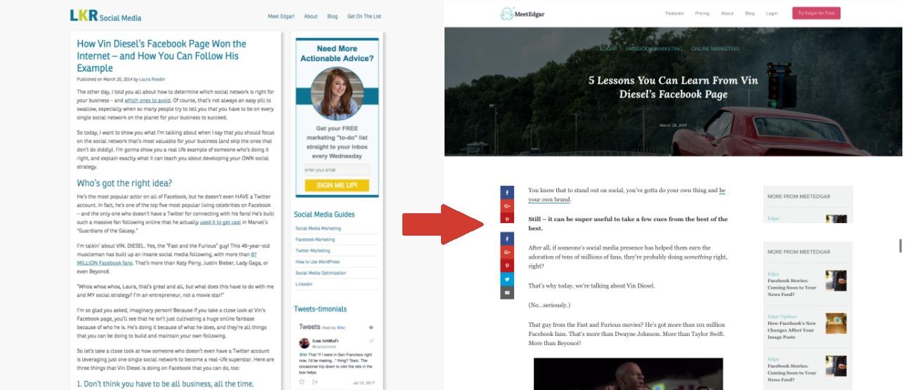 Artigos com novo aspeto visual