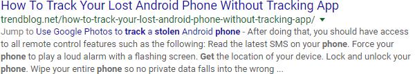 Texto adicionado pelo Google a Meta Description